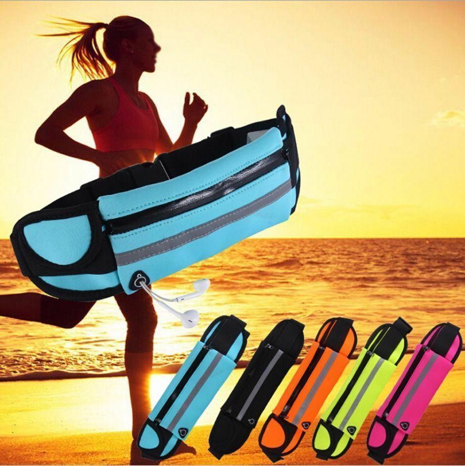 Waterproof Sport Runner Waist Bum Bag Running Jogging Belt Pouch Zip Fanny Pack Bags