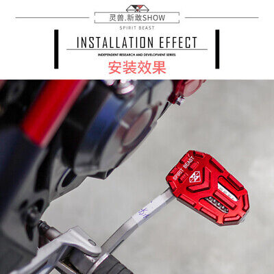 MOTORCYCLE BRAKE PEDAL MODIFIED RED FOOT RESTS FOR BENELLI TNT135 BN60