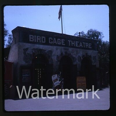 1960s  amateur Kodachrome Photo slide Knotts Berry Farm Bird Cage Theatre