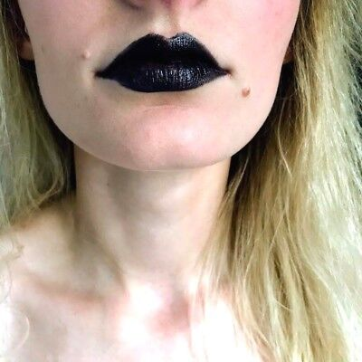 LAVAL Black Lipstick Ideal For Goth Gothic Halloween Fancy - Womens Makeup For Halloween