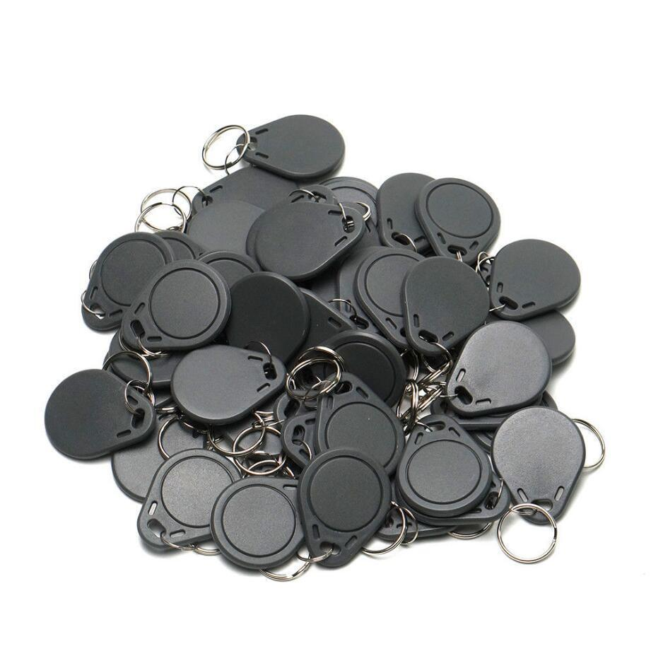 Black RFID 125KHz Writable Rewrite T5577 Keyfobs Proximity Access Tag 50pcs
