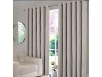 "Geo Latte curtain 2 panels, each 66""x90"" / 168x229cm, new & unused 55£ at Homestore"