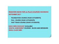 11 Plus Tuition. 98% Pass Rate. Small Groups and 1:1. Register Today for September 2017 Courses.