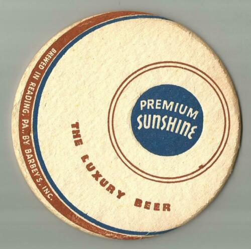 "Premium Sunshine The Luxury Beer  Beer 4 1/4"" Beer Coaster"
