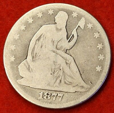 1877 P SEATED LIBERTY HALF DOLLAR AG BEAUTIFUL COIN CHK OUT STORE   $ SH34