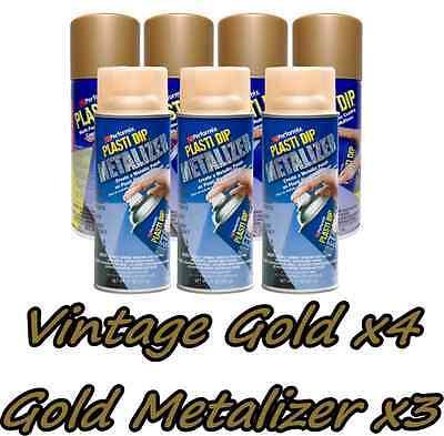 Performix Plasti Dip Premium Wheel Kit 4 Vintage Gold 3 Gold Metalizer Cans 11oz