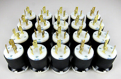 * Lot of 20 *  HBL2621 - Hubbell 2P3W 30A 250V AC L6-30P Twist-Lock Male Plugs