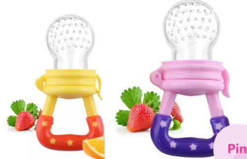 2 x Schnuller baby Obst Sauger Fütterung Beissring Fruchtsauger Geschenk
