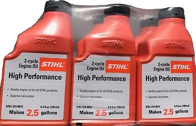STIHL OIL MIX 2.5 GALLON HP 2-CYCLE ENGINE OIL 6-Pack Hewlett Packard Oil