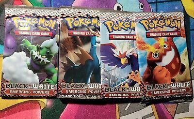 4x Pokemon Black And White Emerging Powers Booster Packs Sealed (Artset)