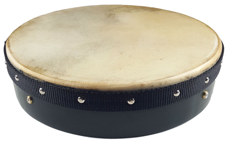 Green Tacked Frame 12 inch Bodhran with Case