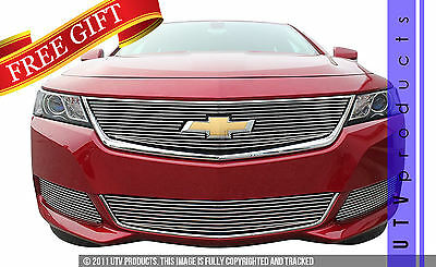 GTG 2014 - 2017 Chevy Impala 4PC Polished Overlay Billet Grille Grill Kit