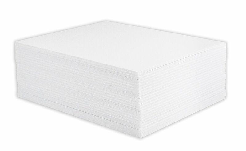 "Mat Board Center, Pack of 25 11x14 1/8"" White Foam Core Backing Boards"