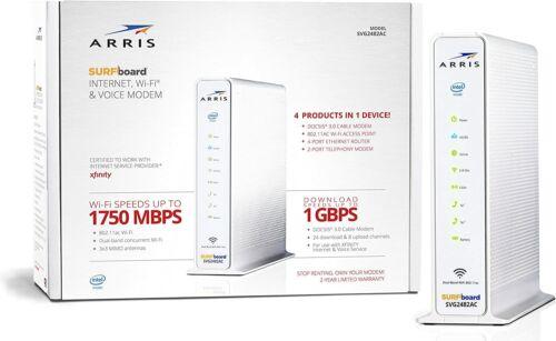 Arris Surfboard Internet WiFi Voice Cable Modem SVG2482AC DOCSIS 3.0 Xfinity