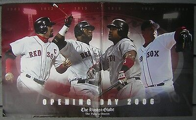 Tuesday  April 11  2006 Boston Globe   Red Sox Opening Day Souvenir Newspaper