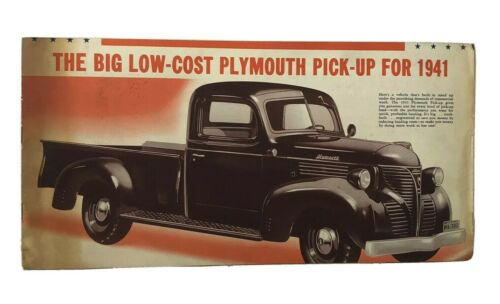 1941 Plymouth PT-125 Truck Sales Brochure New Old Stock Great Condition, RARE