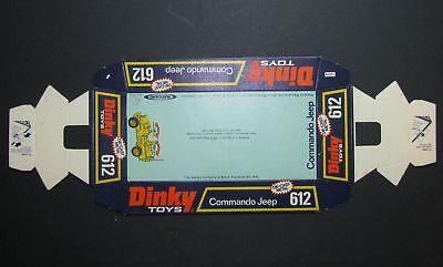 Dinky 612, Commando Jeep - Original Box Base (rare) Socle de Boîte d'Origine