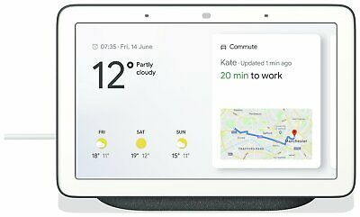 Google Home Hub Smart Speaker with Google Assistant Bluetooth USB - Charcoal