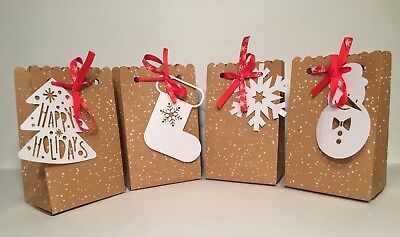 10 Pack Holiday Christmas Gift Bags Perfect For Small Gifts - 4 Varieties