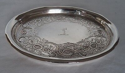 GEORGE III LONDON 1806 STERLING / SOLID SILVER TEA POT STAND / SALVER