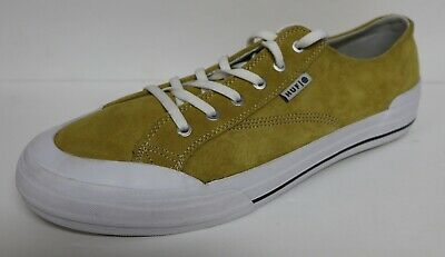 HUF CLASSIC LOW SUEDE LEATHER VULACNIZED SKATE SHOES MUSTARD SNEAKERS NWOB