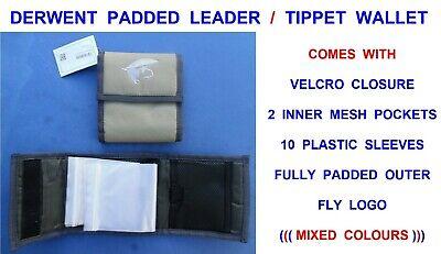 DERWENT PADDED LEADER WALLET GAME COARSE FLY FISHING TIPPET CAST LINE RIG HOLDER