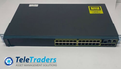 Cisco  Catalyst (WS-C2960S-24TS-L) 24-Ports Rack-Mountable Switch Managed
