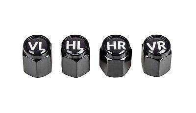 4 x Ventilkappen mit Reifenmarkierung für Auto PKW NEU beschriftet