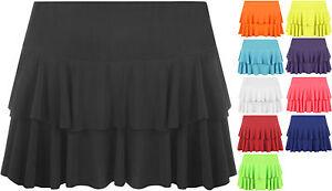 New-Ladies-Rara-Mini-Micro-Flared-Layered-Frill-Stretch-Short-Skirt-Womens-8-14