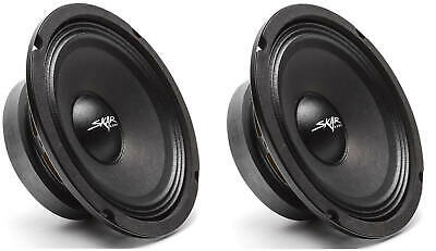 (2) BAGONG SKAR AUDIO FSX65-4 6.5-INCH 4 OHM 300W MAX CAR PRO AUDIO SPEAKERS - PAIR