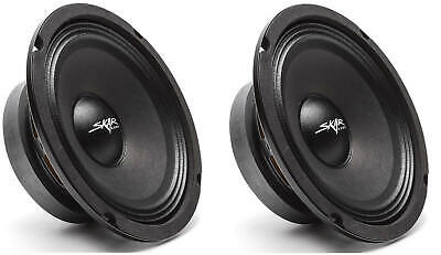 (2) ΝΕΟΣ SKAR AUDIO FSX65-4 6.5-INCH 4 OHM 300W MAX CAR PRO AUDIO SPEAKERS - PAIR