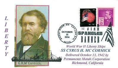 CYRUS MC CORMICK: Ship named:Inventor perfected the grain harvester, Pictorial
