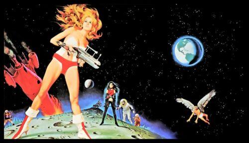 Barbarella FRIDGE MAGNET 4x7 Jane Fonda Classic Sexy Movie Poster CANVAS Print