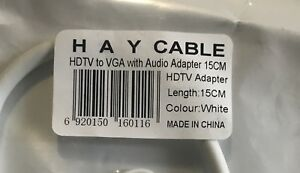 HDTV to VGA  with audio cable