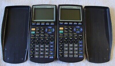 Texas Instruments TI-83 Graphing Calculators Set of 2 Tested & Working