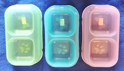 1 Pet Studio Neon Bowl Dog Double Diner Food Water Dish Large Plastic 16oz