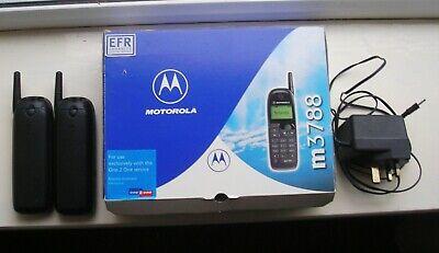 2 - Motorola M3788 Vintage Mobile Phones and Charger -see description