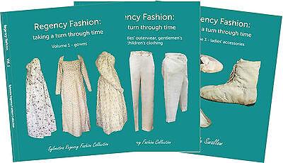 'Regency Fashion: taking a turn through time' books 3 vols Sylvestra Regency