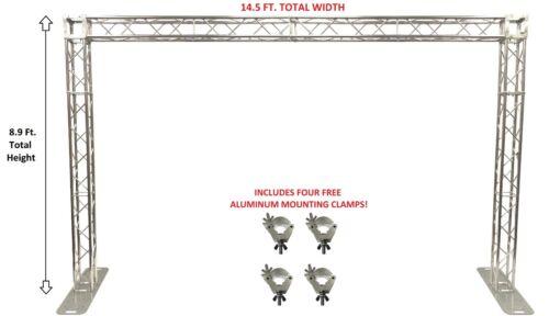 14.5 Ft. Width Square Aluminum Truss Goal Post System For DJ Lights Speakers PA