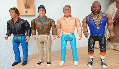 "Vintage The A-Team Figures Galoob 6"" Set Of 4"