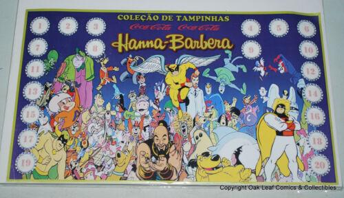 Hanna-Barbera Cartoon Complete Bottle Cap Set of 20 Brazil Coca Cola Coke