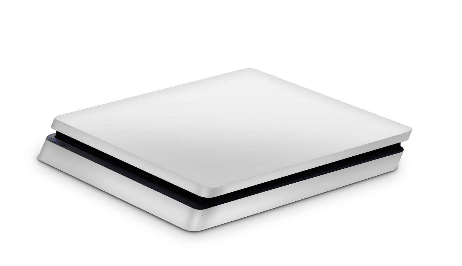 Sony Playstation 4 Slim Aufkleber PS4 Skin Design Sticker Solid State weiss