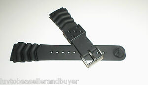 SEIKO Z22 RUBBER WAVE VENT DIVE DIVER'S WATCH BAND STRAP 22mm