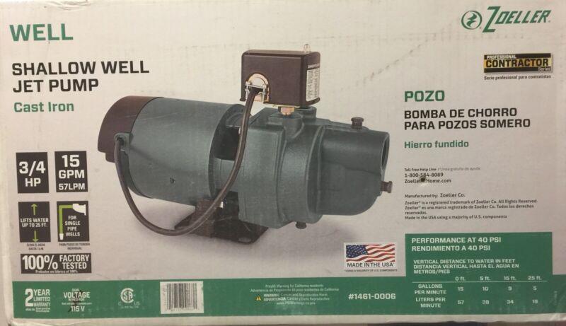 Zoeller (1461-0006) - 3/4HP (15GPM) Cast Iron Shallow Well Pump