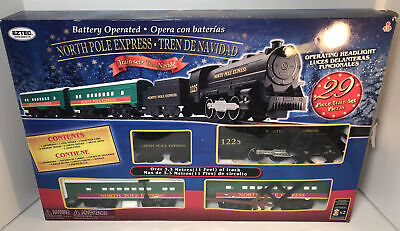 EzTec 29 Piece North Pole Express Christmas Train Set Battery Operated Toy