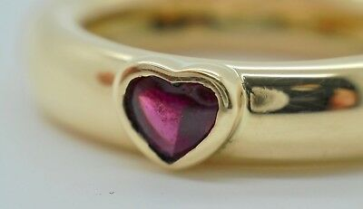 Authentic Tiffany & Co. Friendship Heart Ruby 18k Yellow Gold Ring - (Tiffany And Co Friendship)