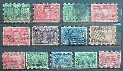 USED 1904-07 - 2 Sets (8 Louisiana Purchase & 5 Jamestown) #323-#330  Very Nice
