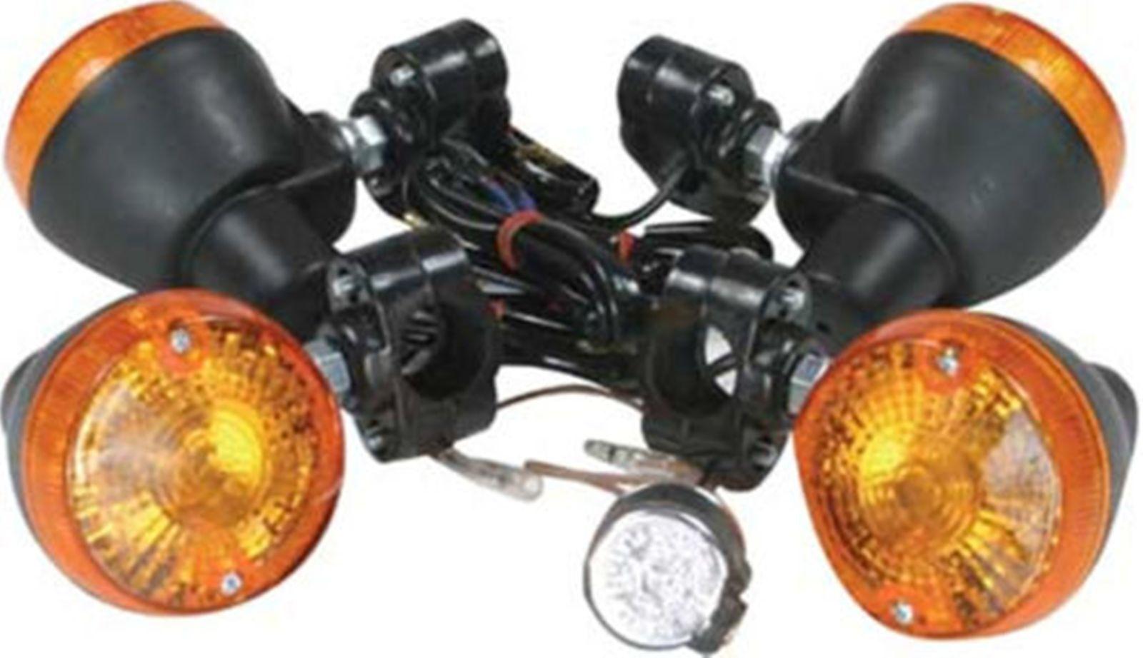 DIY TURN SIGNAL KIT w/ Switch Fits ATVs UTVs Golf Cart Go-Kart Universal Fit