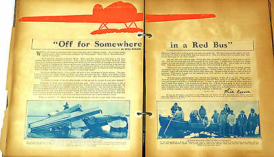 WILL ROGERS & WILEY POST CRASH Historical Memorabilia Scrapbook - Early Aviation