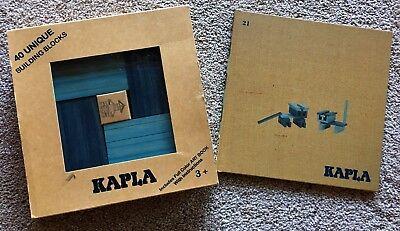 Kapla Building Blocks - KAPLA 40 Unique Building Blocks Blue & Light Blue Full Color Art Book COMPLETE
